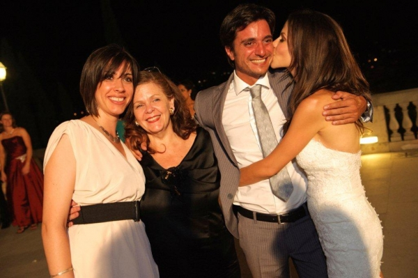 Tammin and Julie Sursok with Alberto and Tina from WeddingItaly