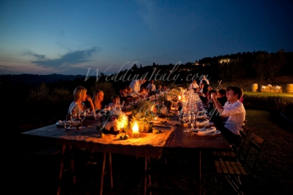 Catholic countryside wedding in Tuscany