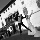 Outdoor wedding in a beautiful Tuscan villa with breathtaking views!