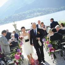 Janice & Mike, Lake Como Italian outdoor wedding