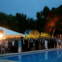 Outdoor protestant wedding at the Lido, Venice