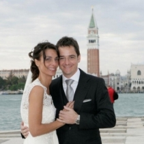 Catholic wedding in Venice and beautiful reception in a Venetian palace