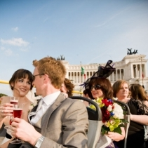 Catholic wedding in Rome and beautiful reception in a historical Baroque Palace