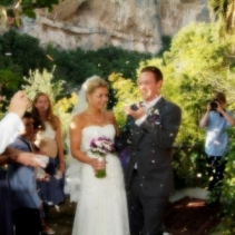 Sarah and Liam outdoor wedding in Positano