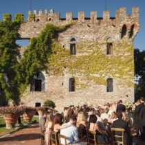 Stephanie & Mike, castle in Fiesole, Tuscany