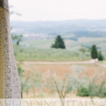 Tuscany countryside side wedding