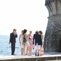 Outdoor wedding in a castle and beautiful villa reception on the shores of Lake Garda