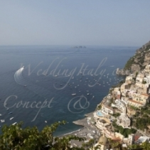Civil wedding in Sorrento and wedding reception in a private villa in Positano
