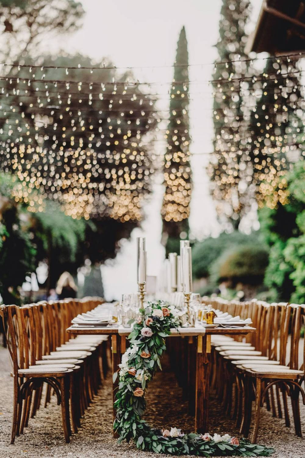 Outdoor reception for your wedding in Tuscany, Italy