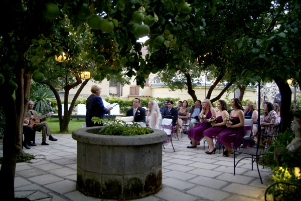 Amalfi Coast, Positano, wedding reception in a garden
