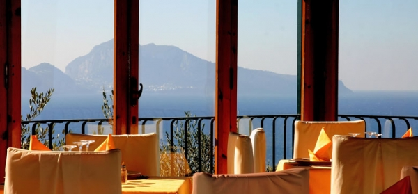 A renowned restaurant near Sorrento