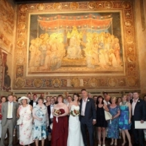 Civil wedding in Siena, Tuscany