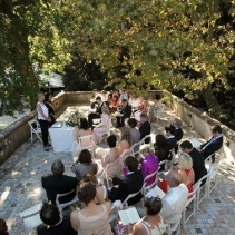 Symbolic wedding in Lucca, Tuscany