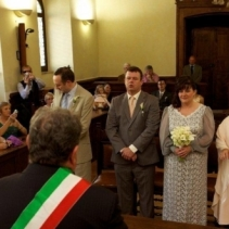 Civil wedding in Assisi, Umbria