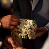 Civil wedding in San Gimignano, Tuscany