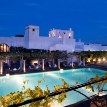 Romantic tower and hamlet in Puglia