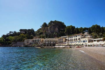 Exclusive beach resort in Taormina