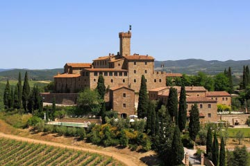 Castle in Montalcino, Tuscany