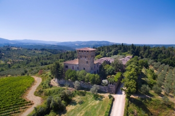 Countryside castle in Tuscany