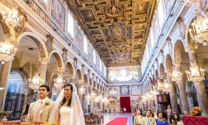 Matrimonio cattolico in  Rome