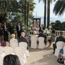 Civil wedding in Santa Margherita Ligure, Italian Riviera, Italy