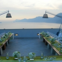 Contemporary wedding reception amalfi coast