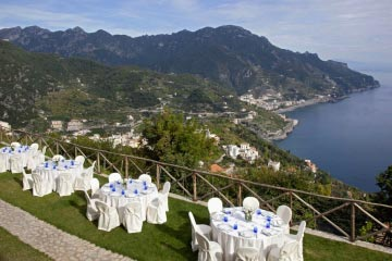 Garden and views overlooking Ravello