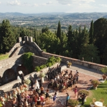Castle in Fiesole hills, Florence, WeddingItaly
