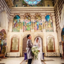 Protestant religious weddings in Rome, Italy