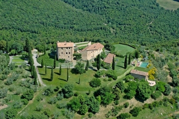 Typical Tuscan countryside castle and estate